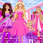 Barbie Princesses Dress Up