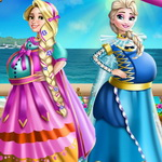 Elsa And Rapunzel Pregnant Costumes