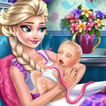 Frozen Elsa Birth Caring
