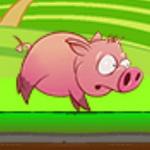 Pink Running Pig